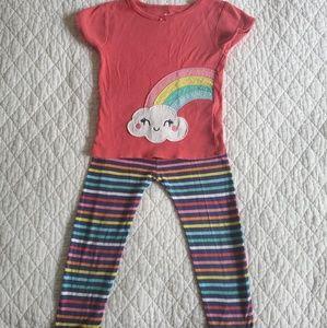Carter's Rainbow Pajamas (3T)
